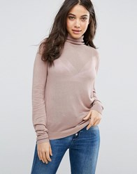Vila Polo Neck Jumper Antler Purple