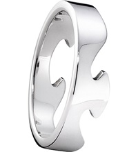 Georg Jensen Fusion End 18Ct White Gold Ring