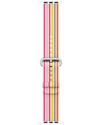 Apple Watch 42Mm Woven Nylon Pink Stripe