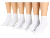 Ecco Socks Ankle Solid W Cushion White Men's Crew Cut Socks Shoes