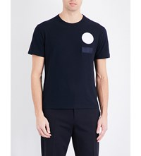 Joseph Badge Cotton Jersey T Shirt Navy