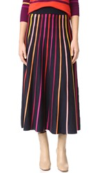 Temperley London Midi Panorama Skirt French Navy