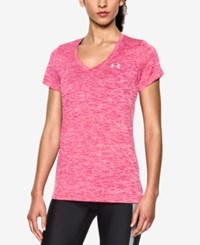 Under Armour Amour Ua Tech Twist V Neck Tee Kno Pink