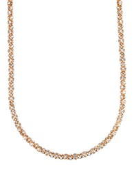 Anne Klein Goldtone Crystallized Tubular Necklace