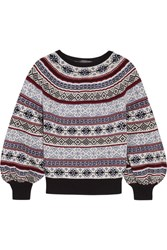 Alexander Mcqueen Fair Isle Knitted Sweater Navy
