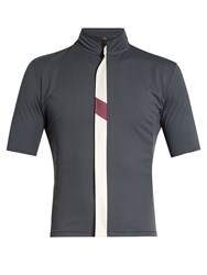 Cafe Du Cycliste Josette Waterproof Zip Through Cycle Top Dark Grey