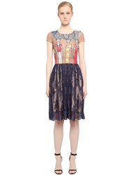 Fabiana Milazzo Embroidered Tulle And Lace Dress