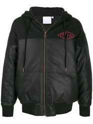 Telfar Leather Look Panelled Zip Hoodie 60