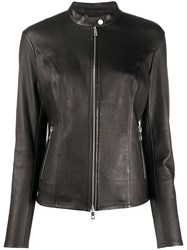Desa 1972 Fitted Zipped Leather Jacket 60