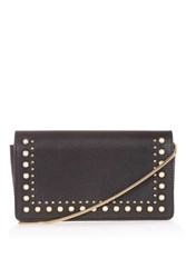 Topshop Orla Studded Crossbody Bag Black