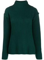 Tory Burch Ribbed Knit Sweater Green