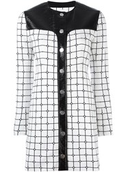 Courreges Grid Print Dress White