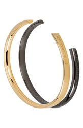 Stella Valle You Complete Me Set Of 2 Cuffs Gold