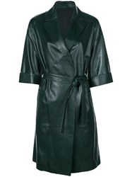 Brunello Cucinelli Belted Trench Coat Green