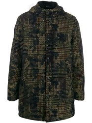 Daniele Alessandrini Camo Hooded Jacket Green
