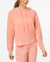 Jessica Simpson The Warm Up Burnout French Terry Hoodie Work Out Blush