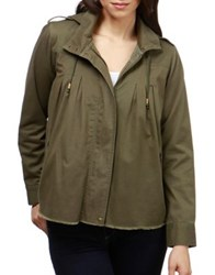 Lucky Brand Hooded Zip Front Jacket Olive Night