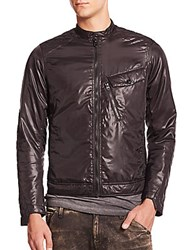 G Star Padded Nylon Moto Jacket Black
