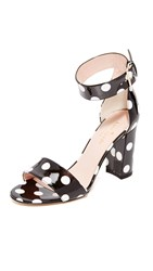 Kate Spade Idabelle Too Sandals Black White Polka Dots