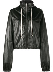 Rick Owens Cropped Windbreaker Black