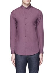 Topman Button Down Collar Shirt Purple