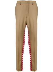 Paura Logo Oversized Trousers Nude And Neutrals