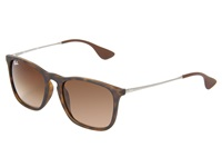 Ray Ban Rb4187 Square Keyhole Youngster 54Mm Rubber Havana Fashion Sunglasses Metallic
