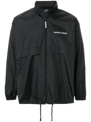Andrea Crews Back Print Windbreaker Black