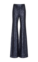 Cynthia Rowley Sequined Flare Pant Blue
