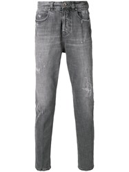 Eleventy Faded Slim Fit Jeans Grey