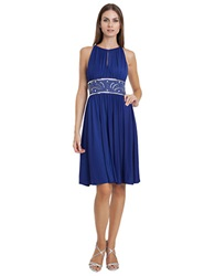 Js Boutique Beaded Ruched Jersey Dress Royal