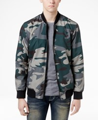 American Rag Men's Camo Bomber Jacket Only At Macy's Olive Mist