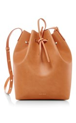 Mansur Gavriel Cammello Silver Large Bucket Bag Tan