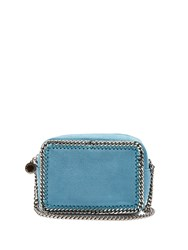 Stella Mccartney Falabella Camera Faux Suede Cross Body Bag Blue