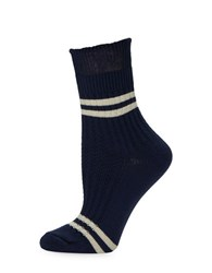 Free People Windsor Striped Ankle Socks Blue Combo