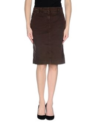 Henry Cotton's Knee Length Skirts Cocoa