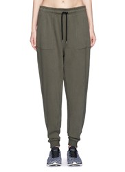Ivy Park Cotton French Terry Sweatpants Green