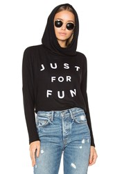 Sundry Just For Fun Pullover Hoodie Black