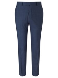 Richard James Mayfair Puppytooth Slim Suit Trousers Blue