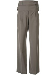 Christopher Esber Double Belted Trousers Green