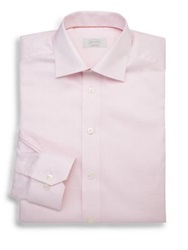 Eton Of Sweden Contemporary Fit Herringbone Dress Shirt Lavender Pink