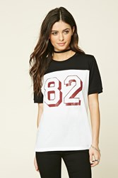 Forever 21 82 Graphic Colorblock Tee