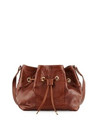 Peyton Leather Bucket Bag Toffee Lauren Merkin