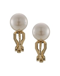 Carolee Clip On Stud Earrings Gold