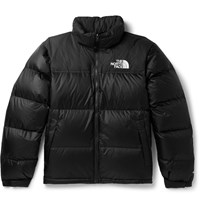The North Face 1996 Retro Nuptse Quilted Shell And Ripstop Hooded Down Jacket Black