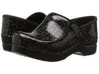 Dansko Professional Grey Quilt Patent Women's Clog Shoes Black
