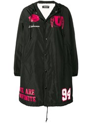 Undercover Buttoned Up Raincoat Black