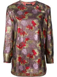 Isabel Marant Longsleeved Lurex Top Pink And Purple