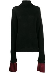 Jejia Loose Fit Turtleneck Jumper Black