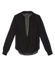 Anthony Vaccarello Deep Scoop Front Wool Blouse